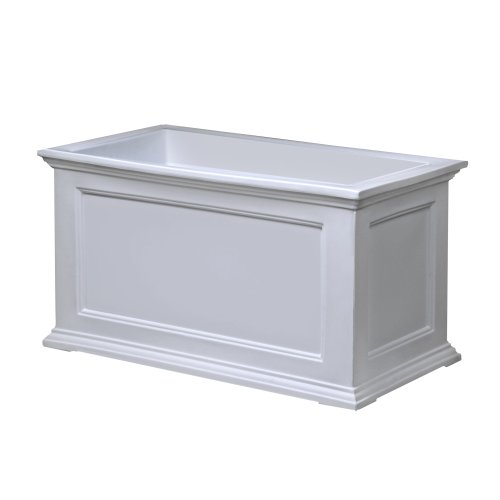Mayne Fairfield 5826W Patio Planter, 20-Inch by 36-Inch, White by Mayne