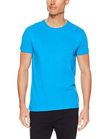 TOMMY HILFIGER Men's Embossed Graphic T-Shirt, Hawaiian Surf, X-Small