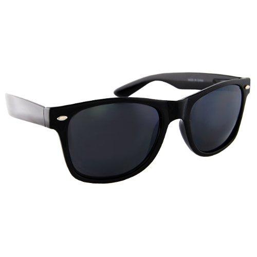 Blues Brothers Wayfarer Dark Black Sun Glasses - Black -