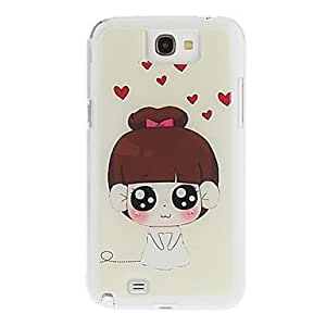 Buy Cartoon Bride Drawing Pattern Neutral Stiffiness Silicone Gel Back Case Cover for Samsung Galaxy Note2 N7100