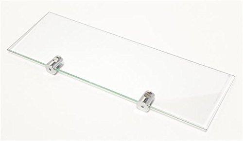 2 X 3 étagères en verre trempé Fixations incluses-Largeur: 30 cm Hauteur 10 cm Cabinetsforbathrooms