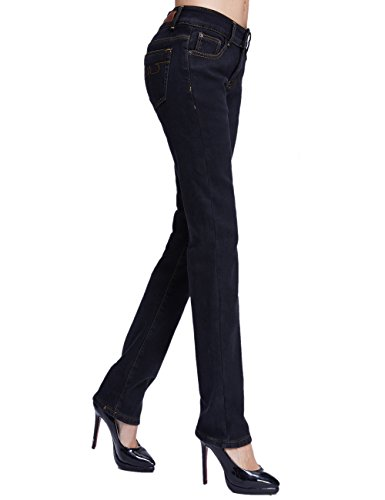 Donna Schwarz Da neue Pile Slim Foderati In Fit Mia Camii Größe Jeans t1q776