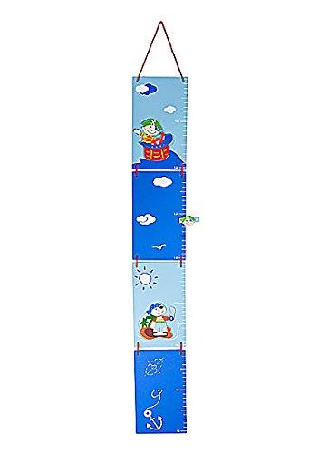 Metri da parete righello di altezza grafico di crescita per bambini a tema pirata Metro per misurare l'altezza per la cameretta o per la camera da letto di un bambino Mousehouse Gifts MH-100348