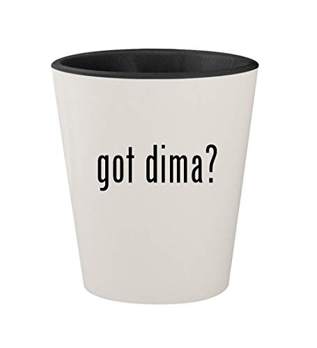 got dima? - Ceramic White Outer & Black Inner 1.5oz Shot Glass