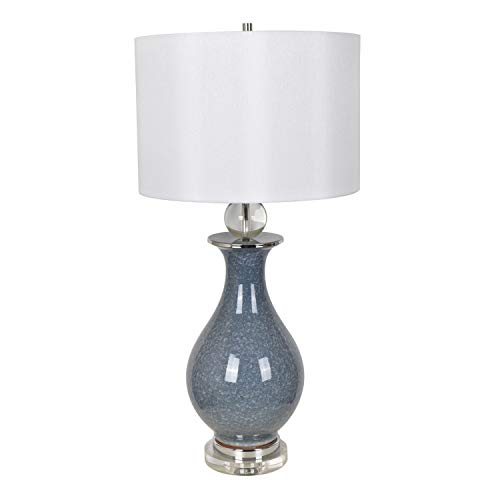 Crestview Francis Table Lamp with Blue Crackle Finish CVAP2120