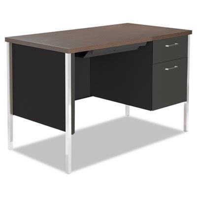 ALESD4524BW - Single Pedestal Steel Desk ()