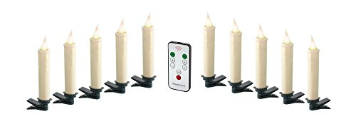 Melrose Clip-On Decorative Candle Lamp Set of 10 by Melrose