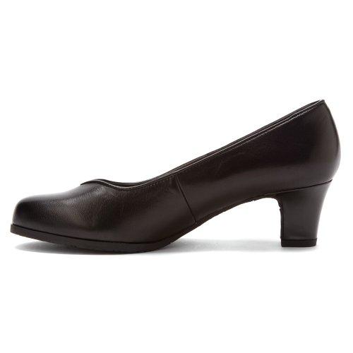 Piping Patent Dark heels Brown 13 M Kidskin Patent Hayden Ros Hommerson Women's Black Kidskin UqntxO7w