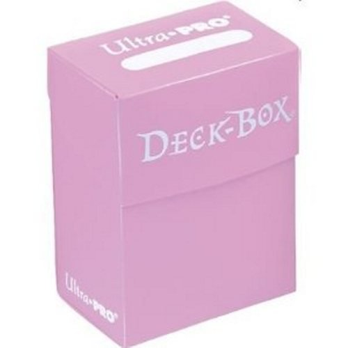 Asmodee - 82481 - Accessoire de jeu de cartes à jouer et à collectionner - Boîte de Rangement pour 75 Cartes Protégées - Rose