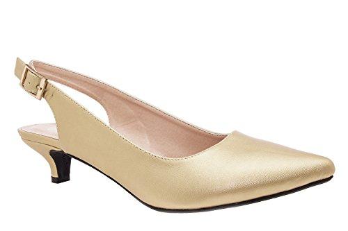Andres Machado.AM521.Salon Destalonado Soft.Mujer.Tallas Pequeñas/Grandes. 32/35-42/45. Oro