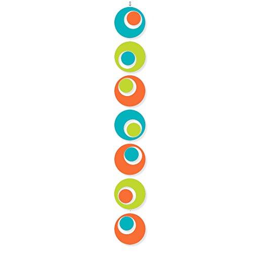 n Art Mobile Hip Palm Springs Colors Aqua, Lime, Orange - Retro Kinetic Fun! 3 Sizes to Choose From ()