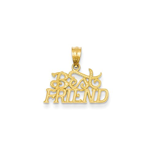 14k Gold Best Friends Pendant (0.63 in x 0.71 in)