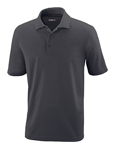 Core 365 Mens Origin  Performance Piqué Polo (88181) -CARBON 456 (Ash Pique Polo)