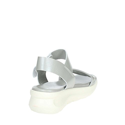 FORNARINA SanDalo Wedge Color Silver Item PEFVH9510WMA9000 New Spring Summer Collection 2016 PEFV H9510WMA 9000 Silver fRc4V