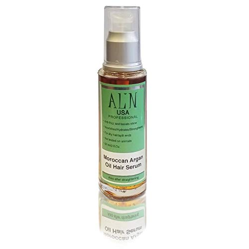 ALIN PROFESSIONAL SULFATE FREE HAIR CARE ARGAN OIL LEAVE-IN HYDRATING TREATMENT FOR REGULAR TO DAMAGED HAIR. FOR LASTING POST-STRAIGHTENED RESULTS. 60ML | 2OZ