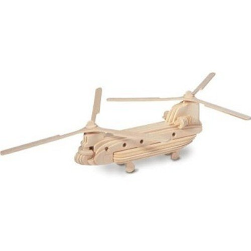 Woodcraft Construction Kit Chinook Kids Wooden Model Game Building Puzzle Toy by Quay by Quay (Image #1)