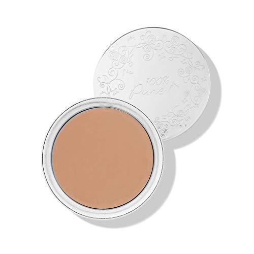 100% PURE Fruit Pigmented Cream Foundation, Golden Peach, Full Coverage Foundation, Anti-Aging, Matte Finish, Vegan Makeup (Medium Tan with Neutral Undertones) - 1 Fl Oz ()