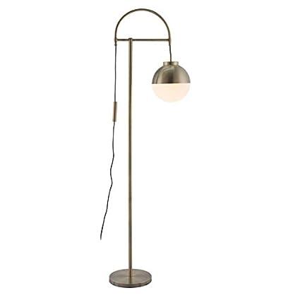 zuo 56053 waterloo floor lamp white brushed brass amazon com
