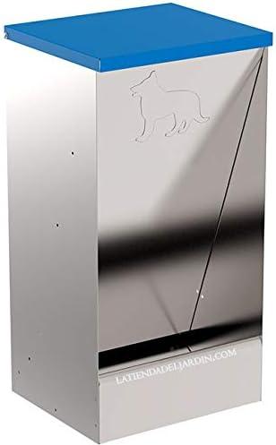 Suinga. COMEDERO AUTOMATICO 20 L para dosificación de pienso para Perros en Chapa Galvanizada. Medidas 31X26X61 cm (Frente, Fondo, Alto). Capacidad 20 litros.: Amazon.es: Productos para mascotas