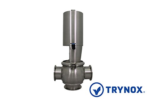 Trynox Sanitary Stainless Steel Single Seat Divert Valve T 316L 1.5'' Sanitary Fitting by Trynox