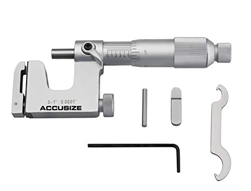 (Accusize Industrial Tools 0-1'' x 0.0001'' Multi Anvil Micrometer in Fitted Box, P101-S100)