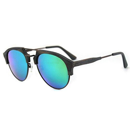 Gafas sol sol madera película ocio de polarizadas de al grano de gafas de Zhangxin C99 C99 libre azul verde aire hombres viaje los dEwq6pY4