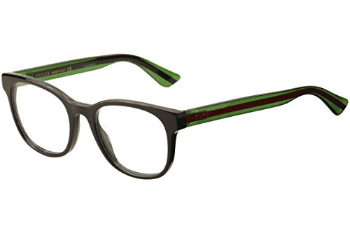 Gucci GG 0005O 006 Black Plastic Square Eyeglasses 53mm by Gucci