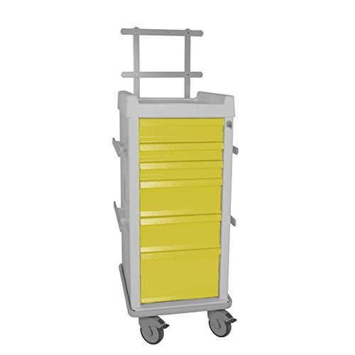 (MRI Cart with Anesthesia Package Narrow 6-Drawer 20