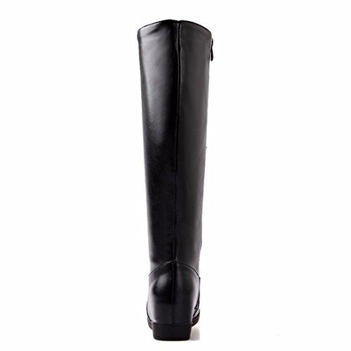 Pelle Di Stivali Di In Scarpe Tubo D'inverno 40 Dimensioni Il Morbide Alta Rff Nero womens Scarpe YIqxB88F