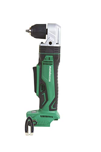 Metabo HPT DN18DSLQ4 18V Cordless Right Angle Drill, Tool Only - No Battery, 3/8-Inch Keyless Chuck, LED Job Light, Side Handle, Compatible with Hitachi/Metabo HPT 18V Lithium Ion Slide-Type Batteries (Best Cordless Right Angle Drill)