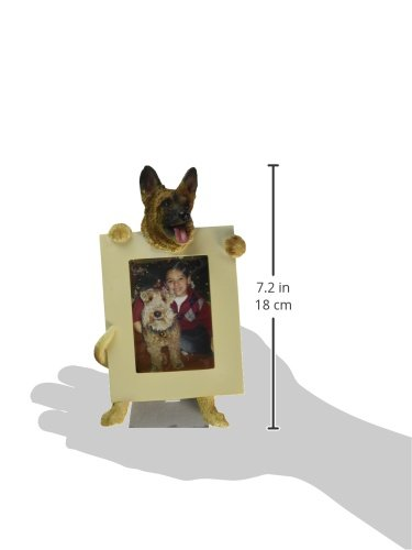 German-Shepherd-Picture-Frame-Holds-Your-Favorite-25-by-35-Inch-Photo-Hand-Painted-Realistic-Looking-German-Shepherd-Stands-6-Inches-Tall-Holding-Beautifully-Crafted-Frame-Unique-and-Special-German-Sh