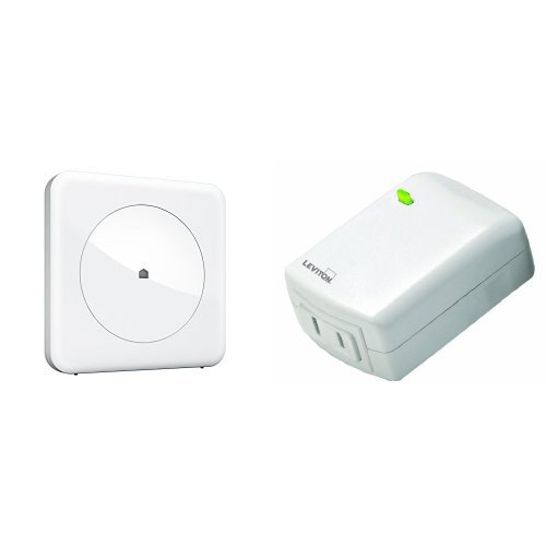 Wink Connected Home Hub and Leviton Plug-In Dimming Lamp Module Bundle, Works with Amazon Alexa
