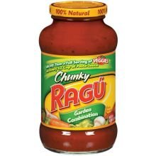 Ragu Chunky Garden Combination Pasta Sauce 24 oz Pack of 12