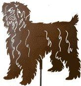 (Haute Steel Wheaten Terrier Metal Dog Stake)