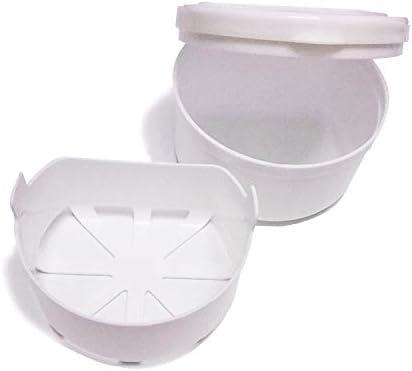 Meiyiu Caja de almacenamiento de prótesis parcial portátil Cuidado de los dientes Caja de la bandeja dental Retenedor de ortodoncia Blanco: Amazon.es: Hogar