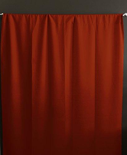 - lovemyfabric 100% Polyester Poplin Window Curtain Panel/Stage Backdrop/Photography Backdrop-Burnt Orange (2, 58