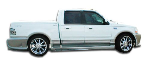 (Duraflex ED-IKR-177 Platinum Side Skirts Rocker Panels - 2 Piece Body Kit - Compatible For Ford F150 1997-2003)