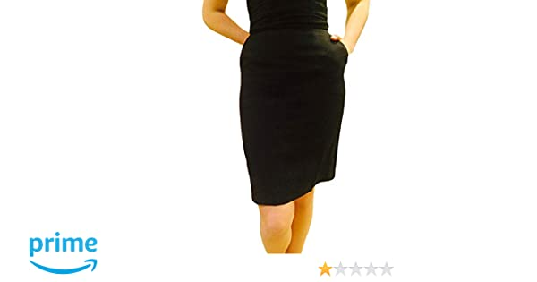 1336ff28eb2c0c Broadway Tuxmakers Tuxedo Pencil Skirt, Womens Black Knee Length at Amazon  Women's Clothing store: