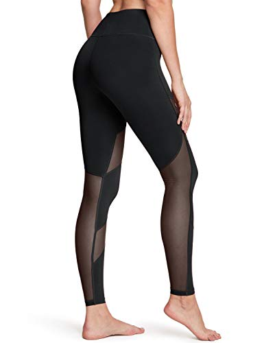 TSLA Yoga Pants Mid-Waist/High-Waist Tummy Control w Pocket Series