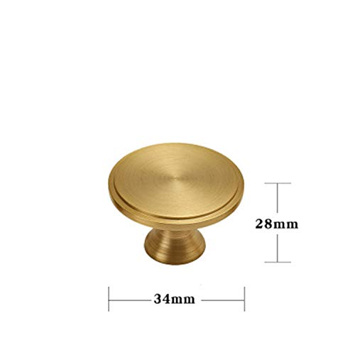 Various Styles/Gold Solid Brass Cabinet Knobs and Handles Drawer Furnitures Cupboard Wardrobe Golden Knobs De Styles Solid Brass Cabinet