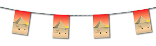 Party Deco Egypt Decoration Bunting 15ft Lengths - Egyptian Party Decorations