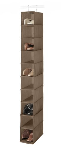 Whitmor Hanging Shoe Shelves, Chocolate