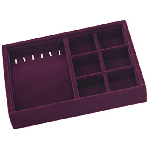 CUTICATE Jewelry Tray Drawer Insert Display Show Case Organizer for Ring Stud Pendant - Necklace Earrings Tray