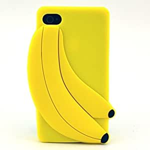 LIMME 3D Banana Pattern Silicone Soft Case for iPhone 5/ 5S