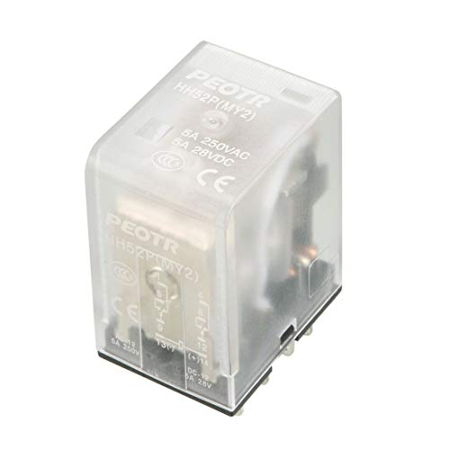 Uxcell a13070300ux0611 HH52P AC 110/120V Coil General Purpose Power Relay with 8 Pins DPDT 2NO 2NC, Clear Blue