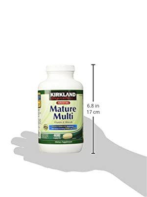 Kirkland Signature Mature Adult Multi Vitamin Tablets - 400 ct  (Frasco dañado)