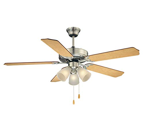 (Savoy House 52-EUP-5RV-SN First Value 52 Inch Ceiling Fan, Satin Nickel)