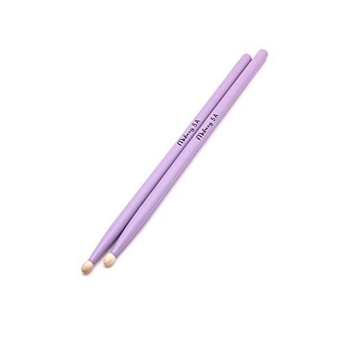 WANDIC 5A Drum Sticks Classic Lightweight Maple Wood Tip Drumsticks for Kids Adults Purple
