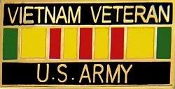 US Army Vietnam Veteran Lapel Pin or Hat Pin