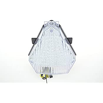 Clear Lens Motorcycle Led Taillights Brake Rear Light with Integrated Turn Signal Lamp Indicators For Yamaha 08-14 Raider
